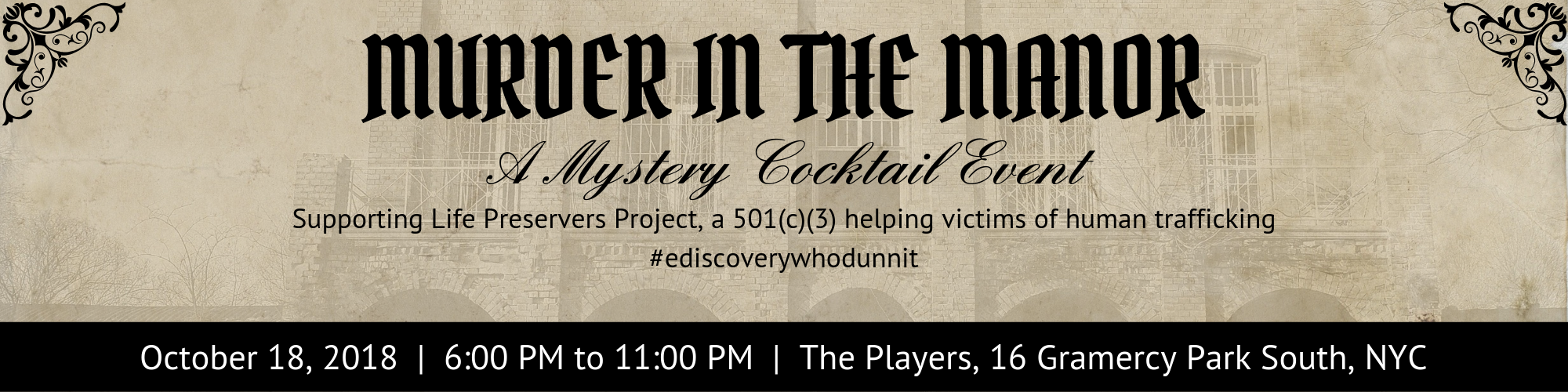 Murder in the Manor Event